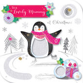 Lovely Mummy Embellished Christmas Greeting Card