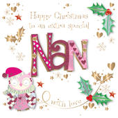 Special Nan Embellished Christmas Greeting Card
