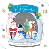 Great-Grandson Embellished Christmas Greeting Card