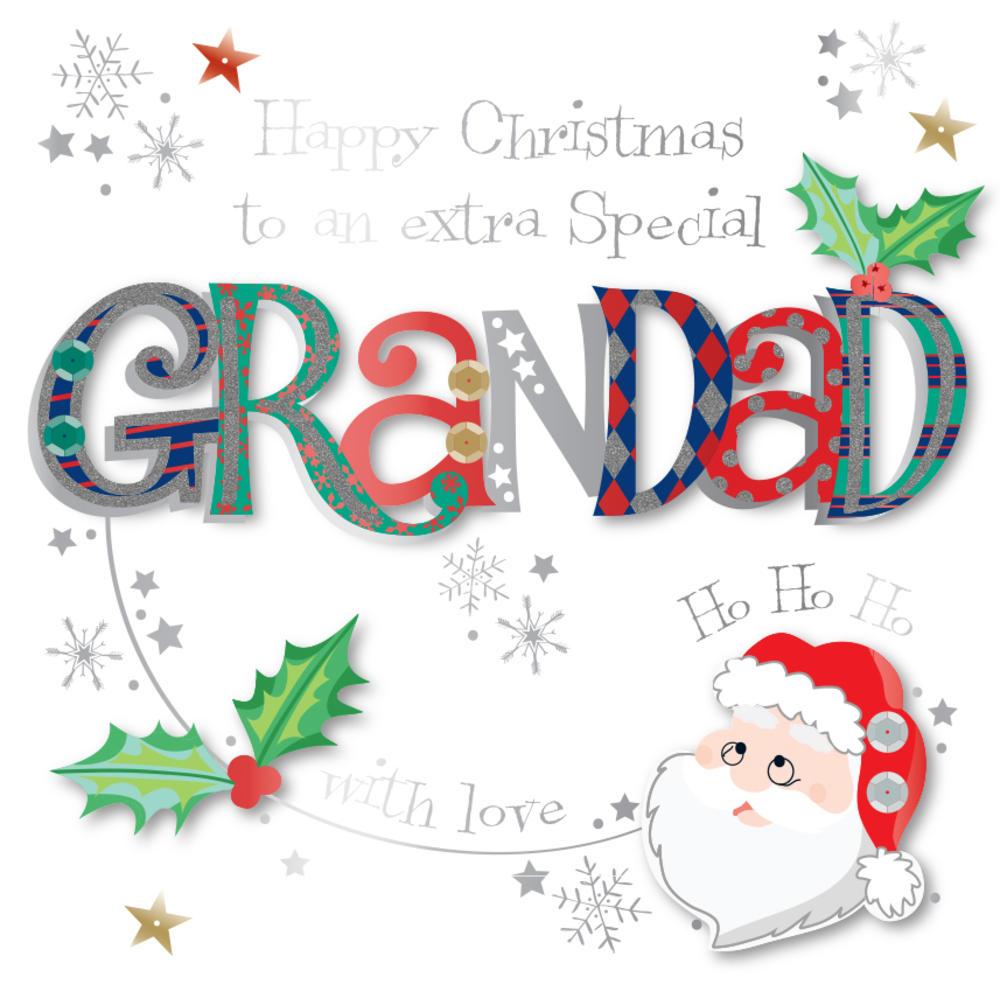 Special Grandad Embellished Christmas Greeting Card