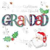 Special Grandad Embellished Christmas Greeting Card