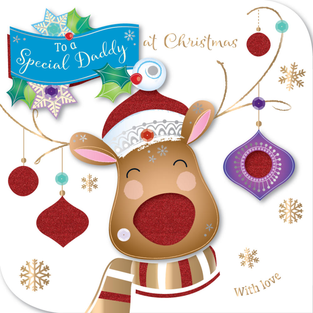 Special Daddy Embellished Christmas Greeting Card