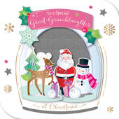 Great-Granddaughter Embellished Christmas Greeting Card