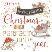 Special Friend Embellished Christmas Greeting Card