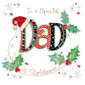 Special Dad Embellished Christmas Greeting Card