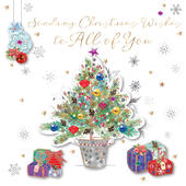 To All Of You Embellished Christmas Greeting Card