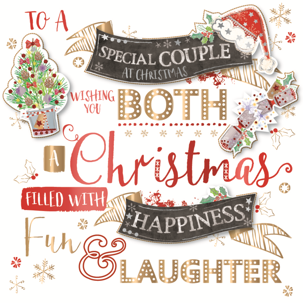 Special Couple Embellished Christmas Greeting Card