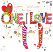 To The One I Love Embellished Christmas Greeting Card