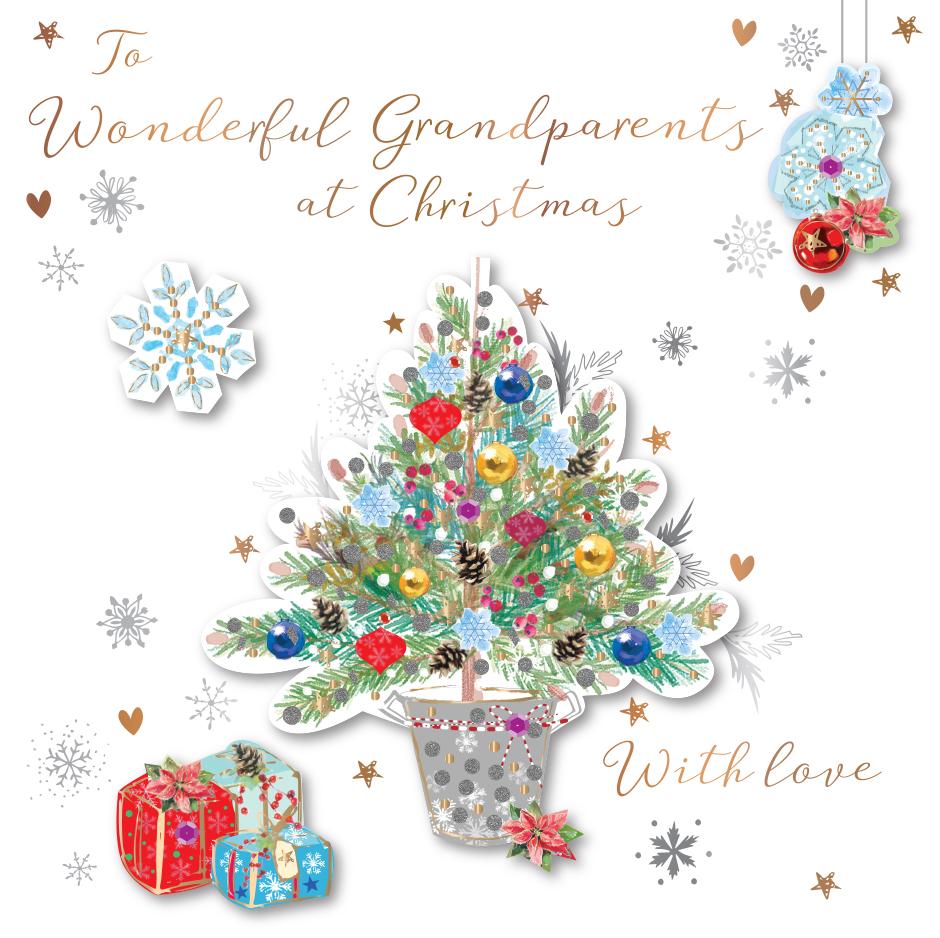 Grandparents embellished christmas greeting card cards love kates grandparents embellished christmas greeting card m4hsunfo