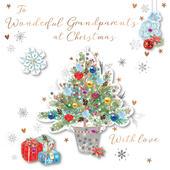 Grandparents Embellished Christmas Greeting Card