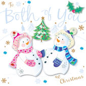 To Both Of You Embellished Christmas Greeting Card