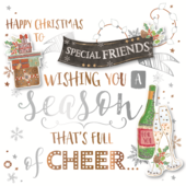 Special Friends Embellished Christmas Greeting Card