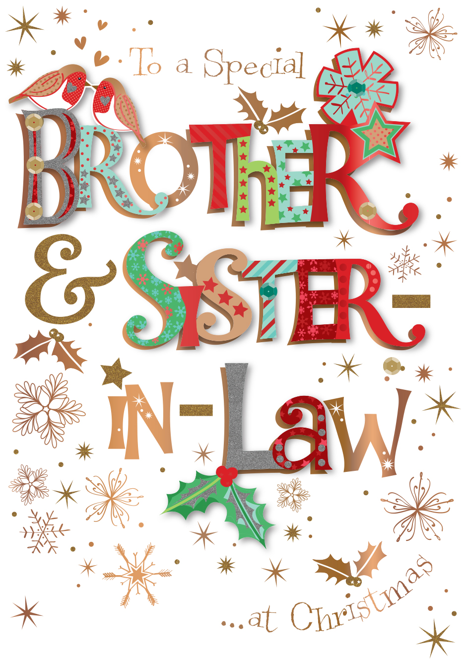 Brother sister in law embellished christmas greeting card cards brother sister in law embellished christmas greeting card m4hsunfo