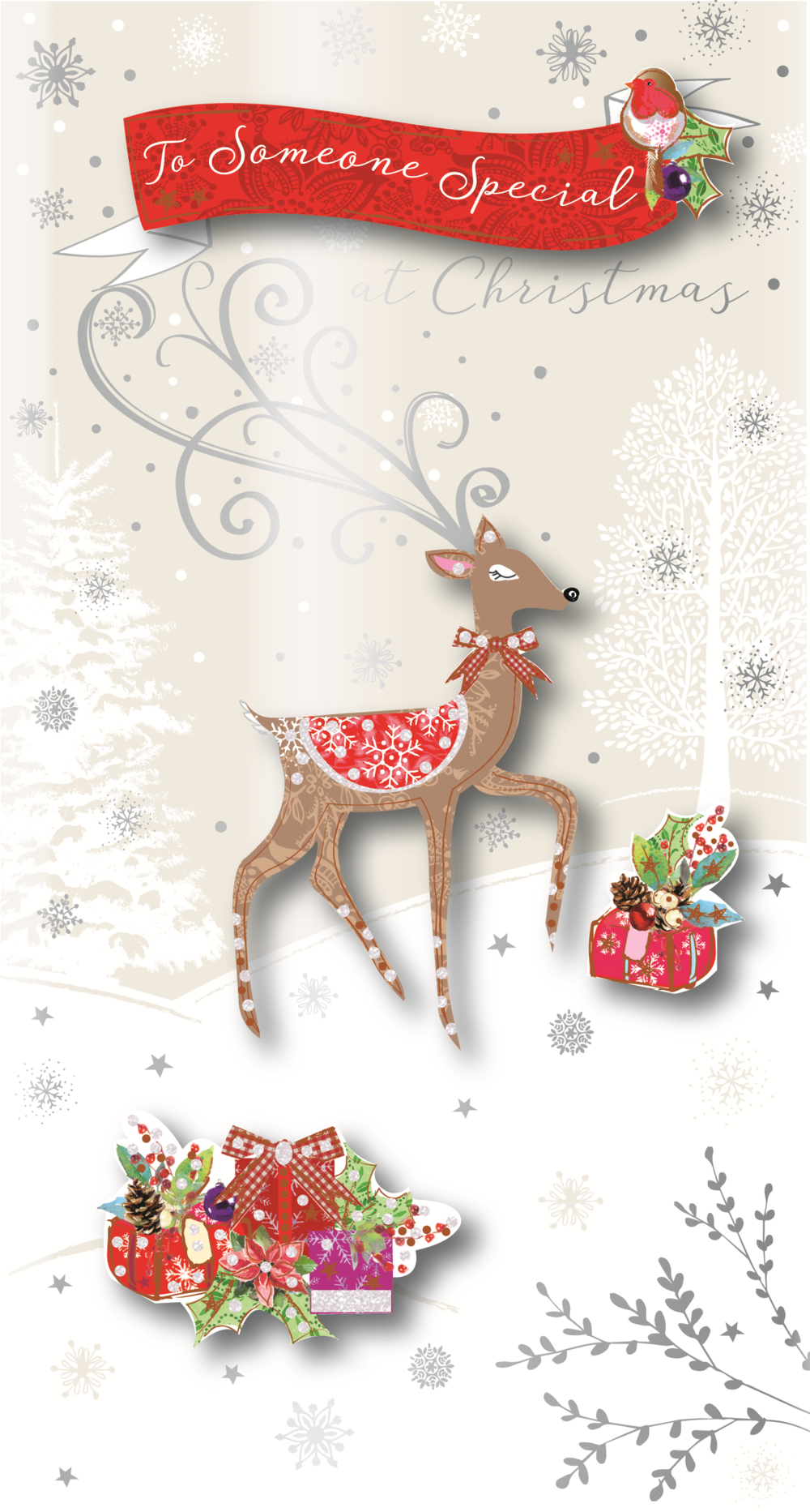 Someone Special Embellished Christmas Greeting Card