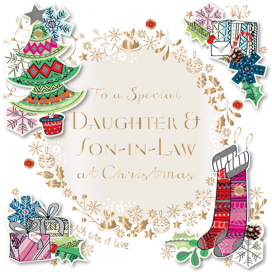 Daughter son in law embellished christmas greeting card cards daughter son in law embellished christmas greeting card m4hsunfo