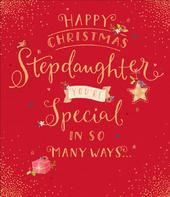 Stepdaughter Christmas Greeting Card