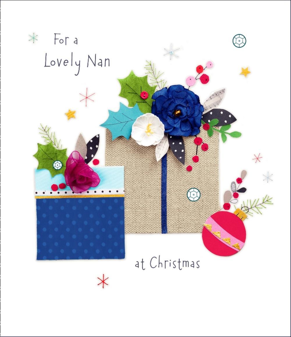 Lovely Nan Christmas Greeting Card