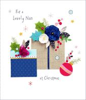 Lovely Nan Christmas Greeting Card