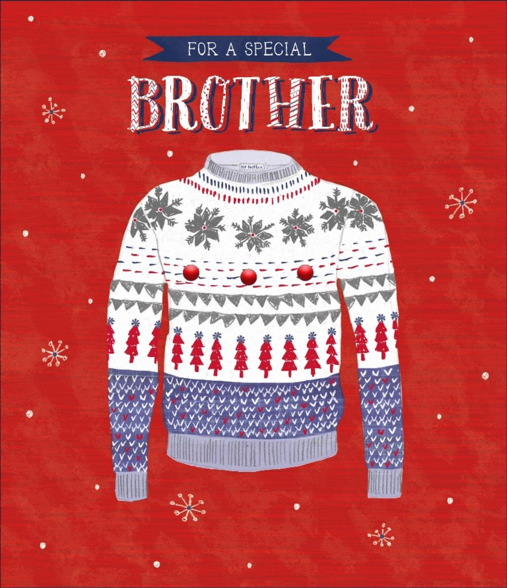 Brother Embellished Christmas Greeting Card