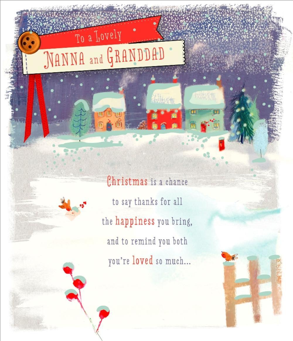 Nanna & Granddad Christmas Greeting Card