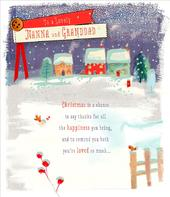Nanna & Granddad Christmas Greeting Card