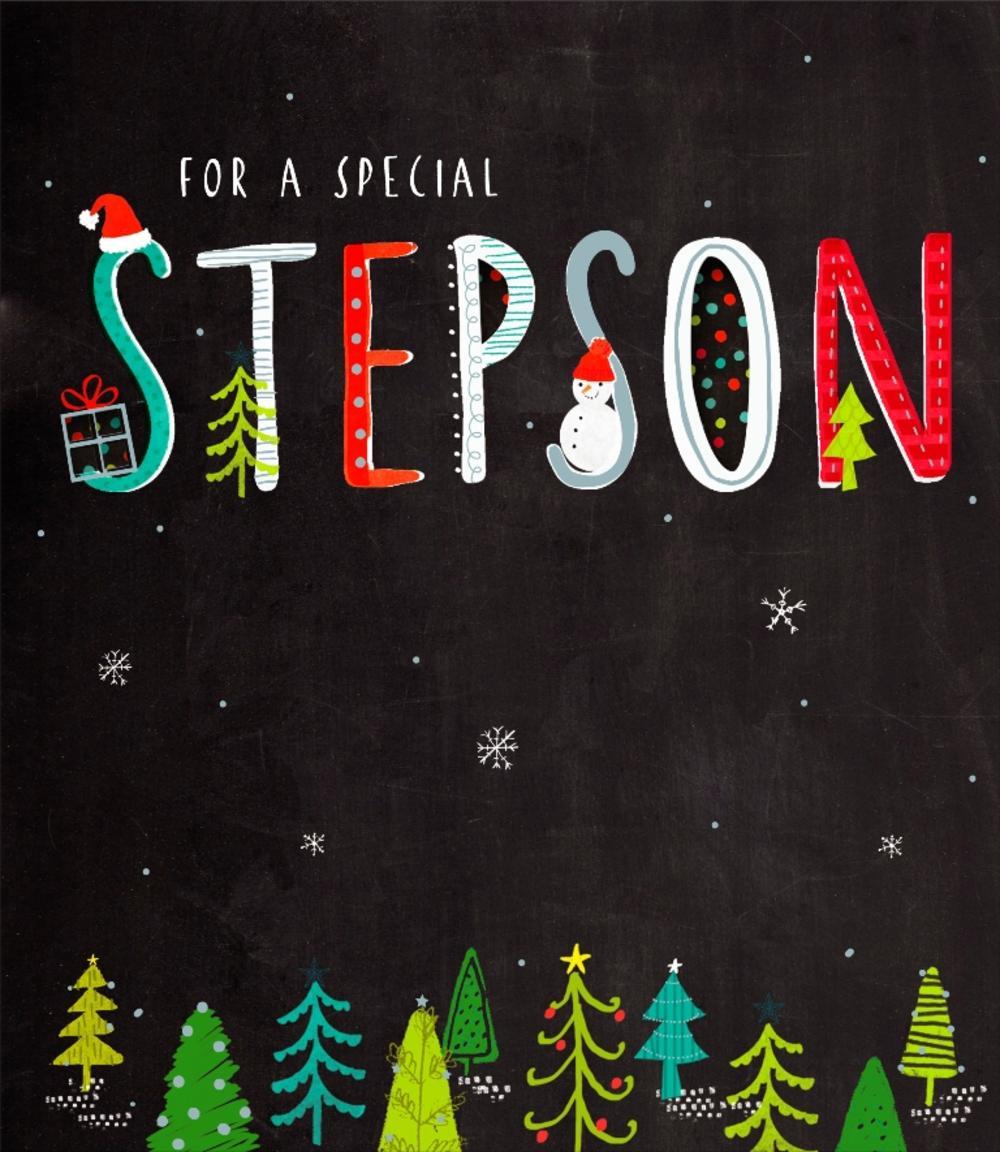 Stepson Christmas Greeting Card