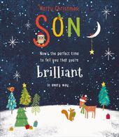Son Embellished  Christmas Greeting Card