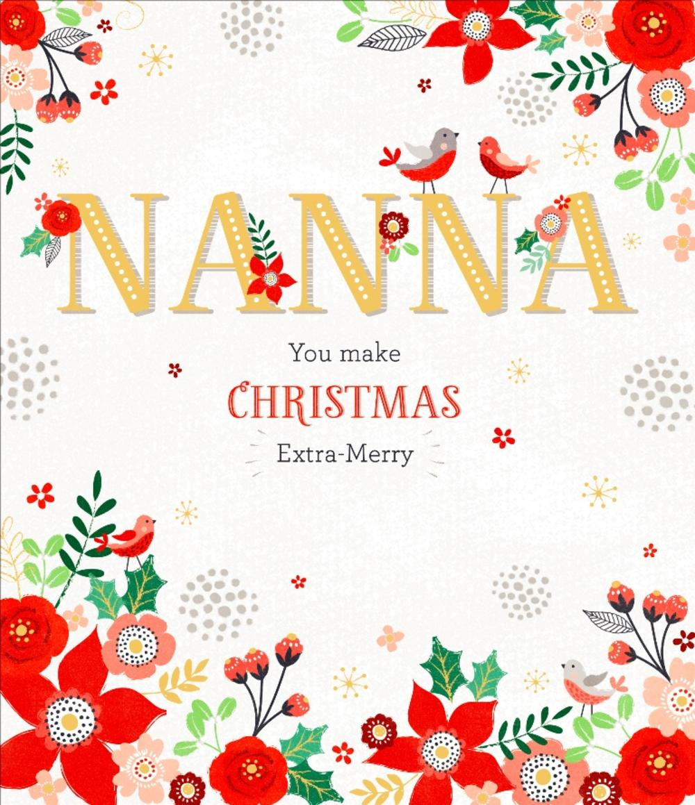 Nanna Christmas Greeting Card