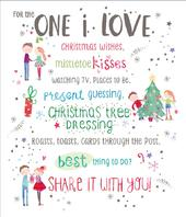 One I Love Christmas Greeting Card