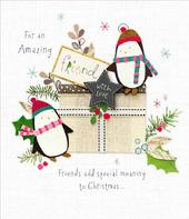 Amazing Friend Christmas Greeting Card