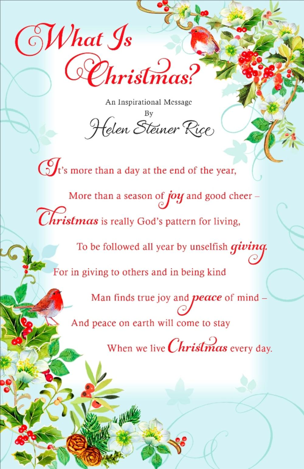 Helen Steiner Rice Religious Christmas Greeting Card Cards Love