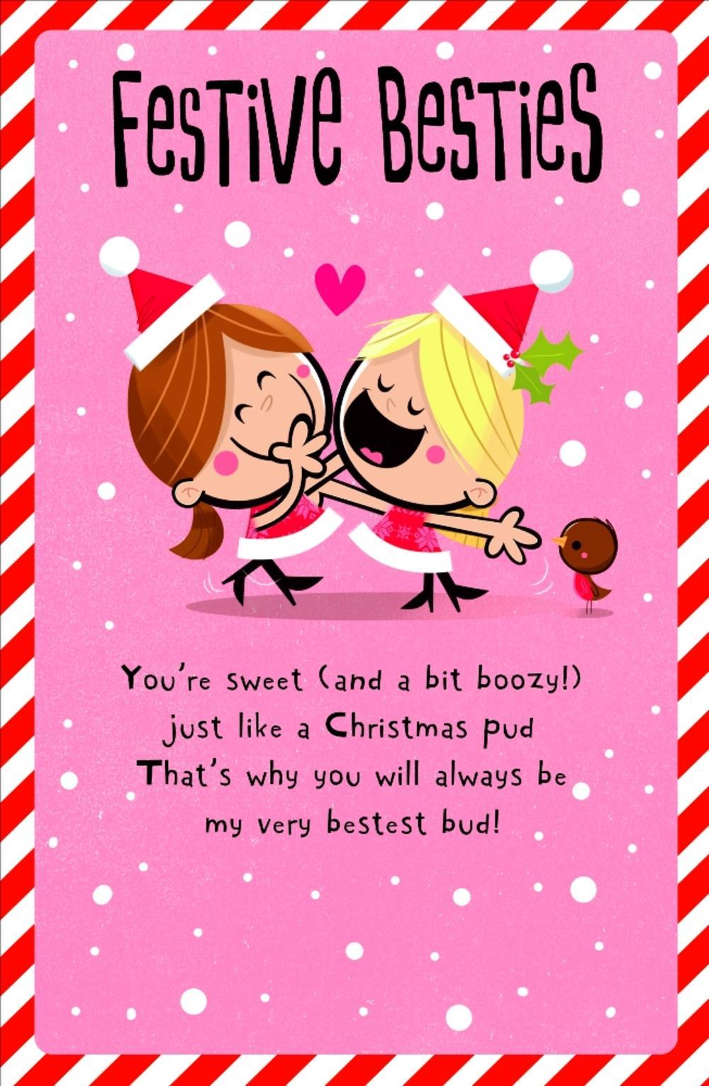 Festive Besties Christmas Greeting Card