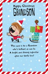 Grandson Happy Christmas Greeting Card
