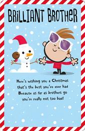 Brother Happy Christmas Greeting Card
