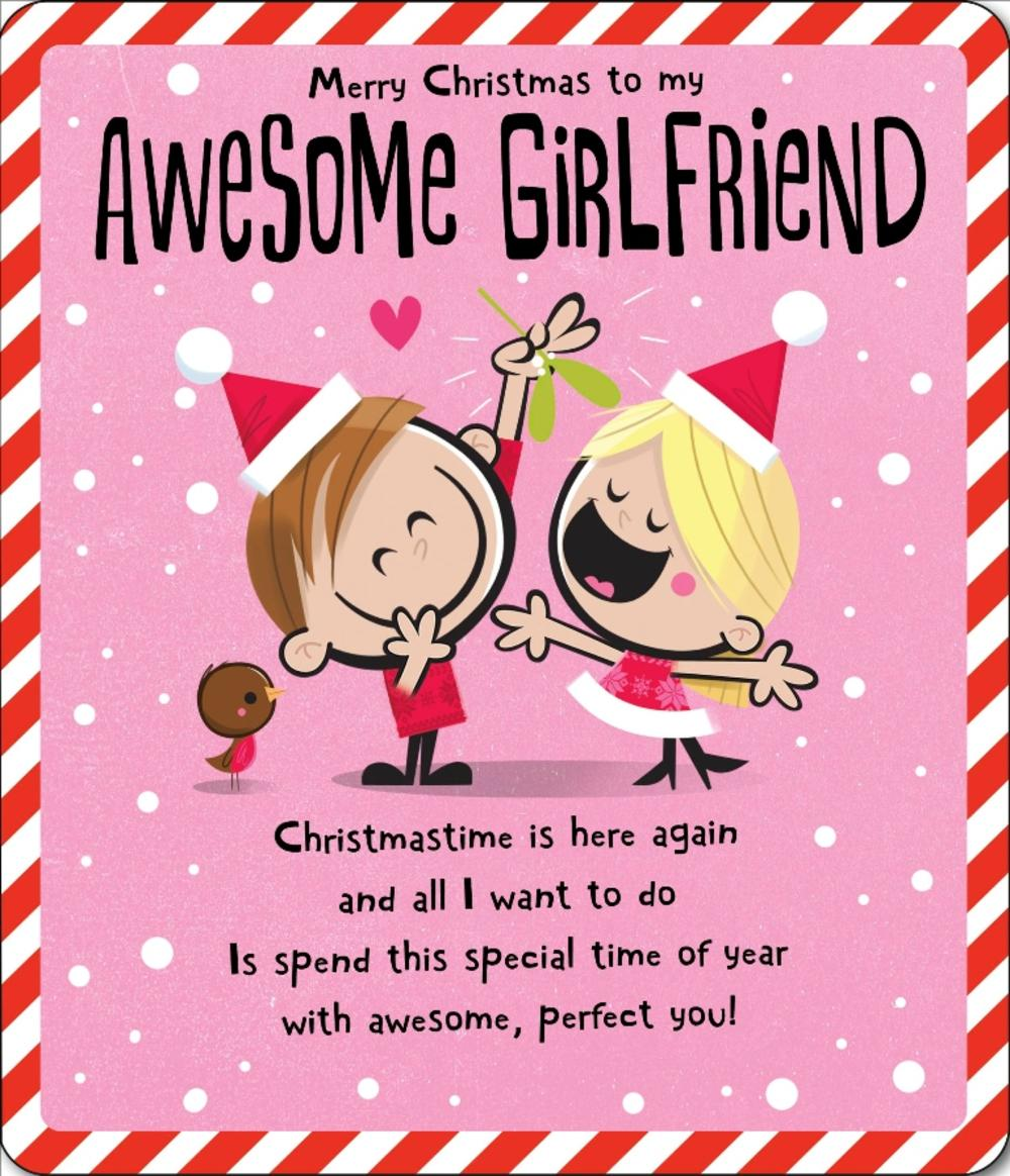 Awesome Girlfriend Christmas Greeting Card