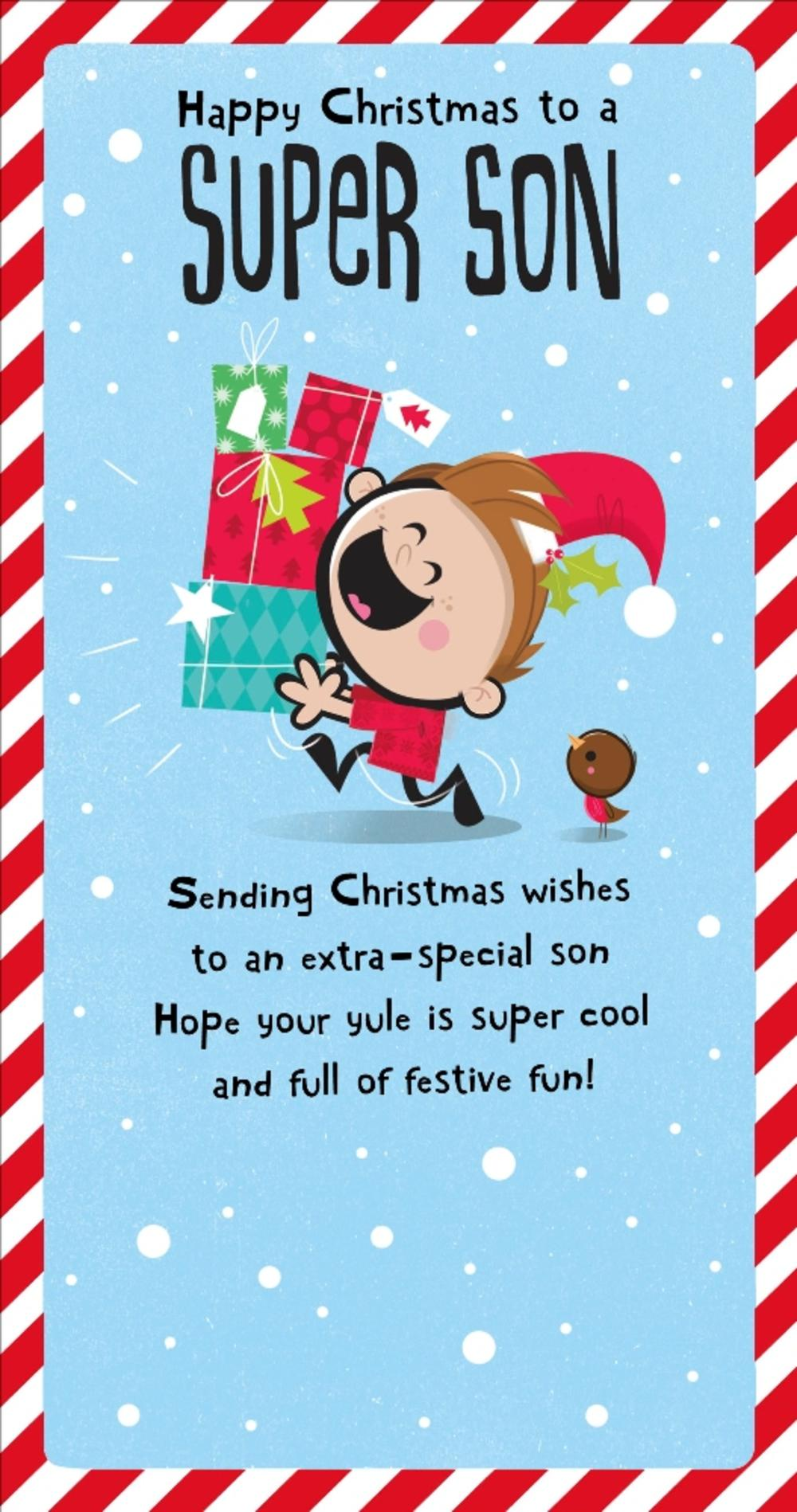 Super Son Christmas Greeting Card