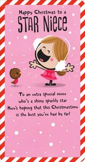 Star Niece Christmas Greeting Card