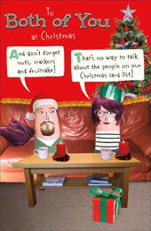 To Both Of You Funny Christmas Greeting Card