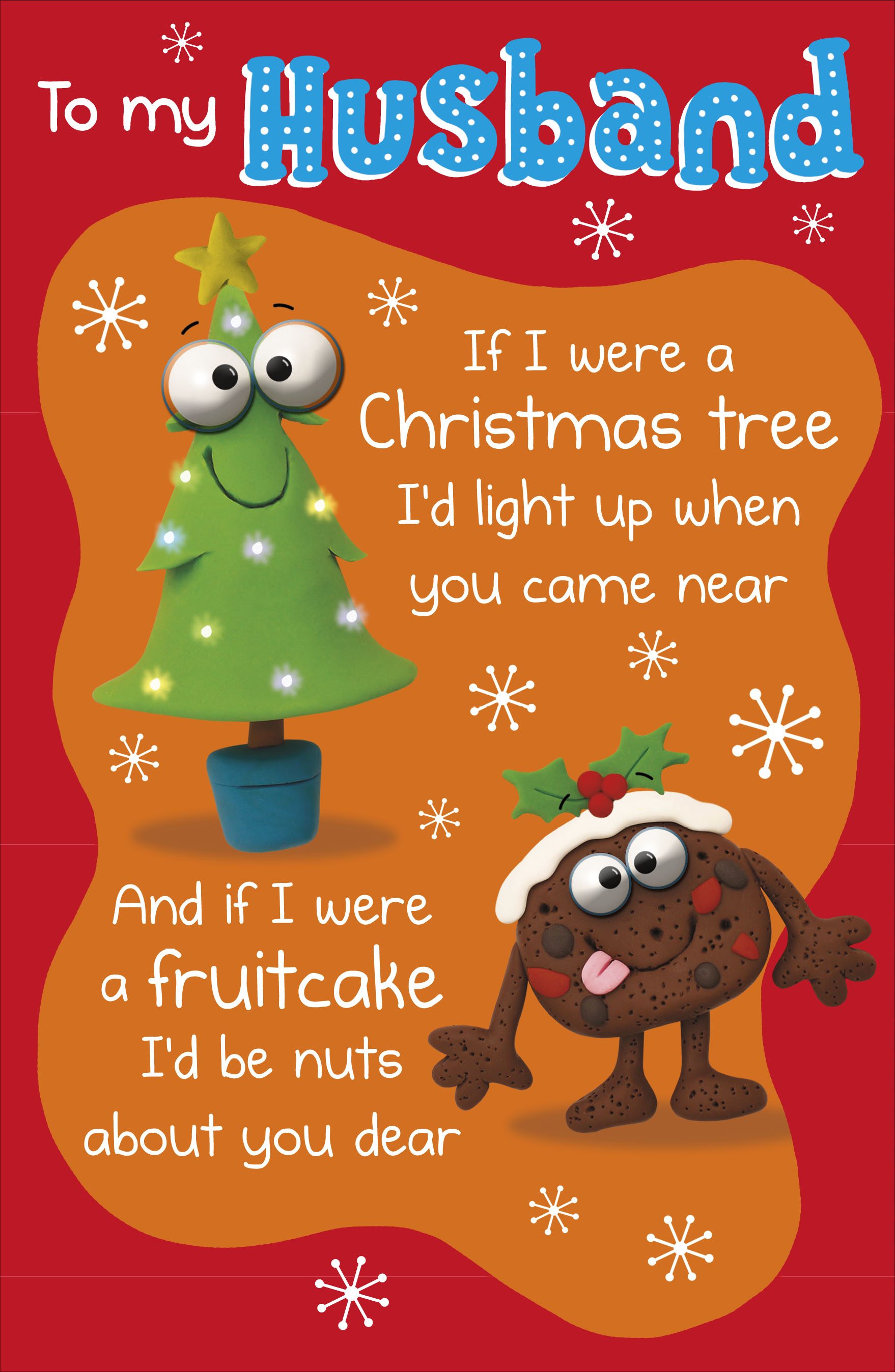 Funny Christmas Picture.To My Husband Funny Verse Christmas Greeting Card