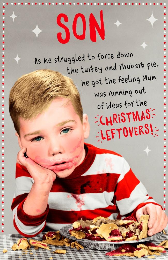 son funny retro christmas greeting card humour xmas cards