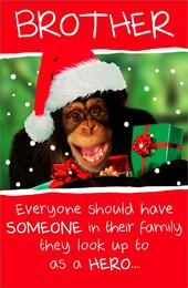 Brother Funny Animal Humour Christmas Greeting Card