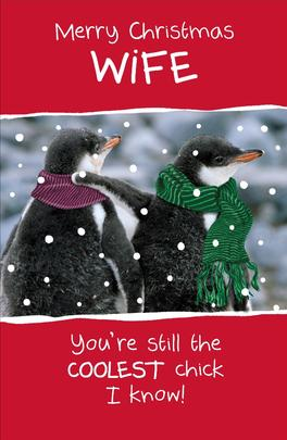 Wife Funny Animal Humour Christmas Greeting Card