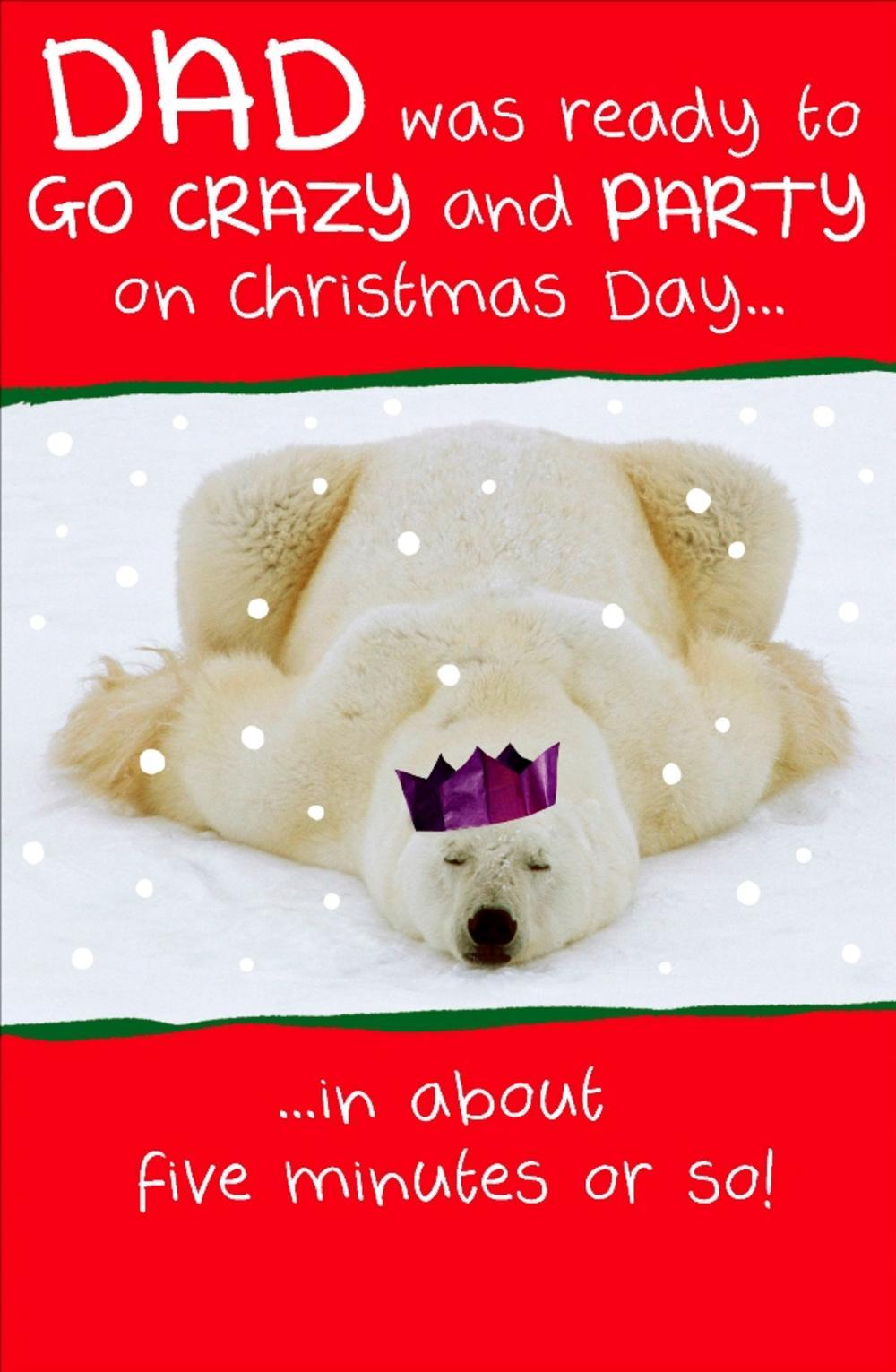 Dad Funny Animal Humour Christmas Greeting Card
