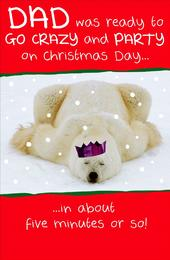 Dad Funny Animal Humour Christmas Greeting Card