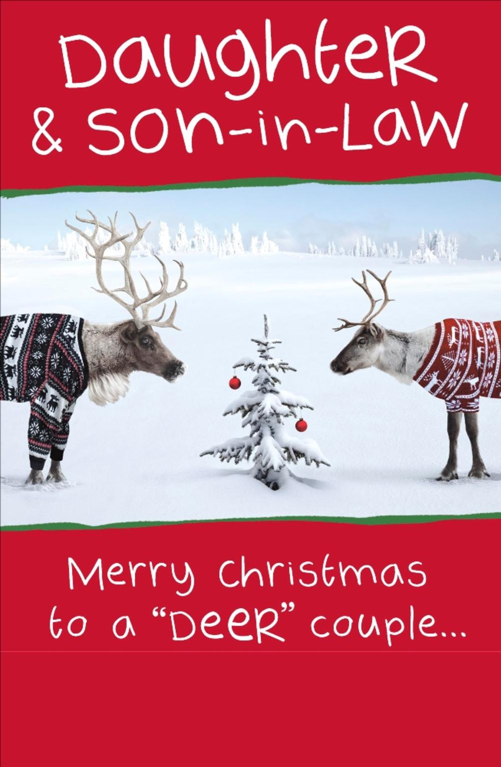 Daughter & Son-In-Law Funny Christmas Greeting Card | Cards