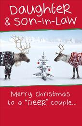 Daughter & Son-In-Law Funny Christmas Greeting Card