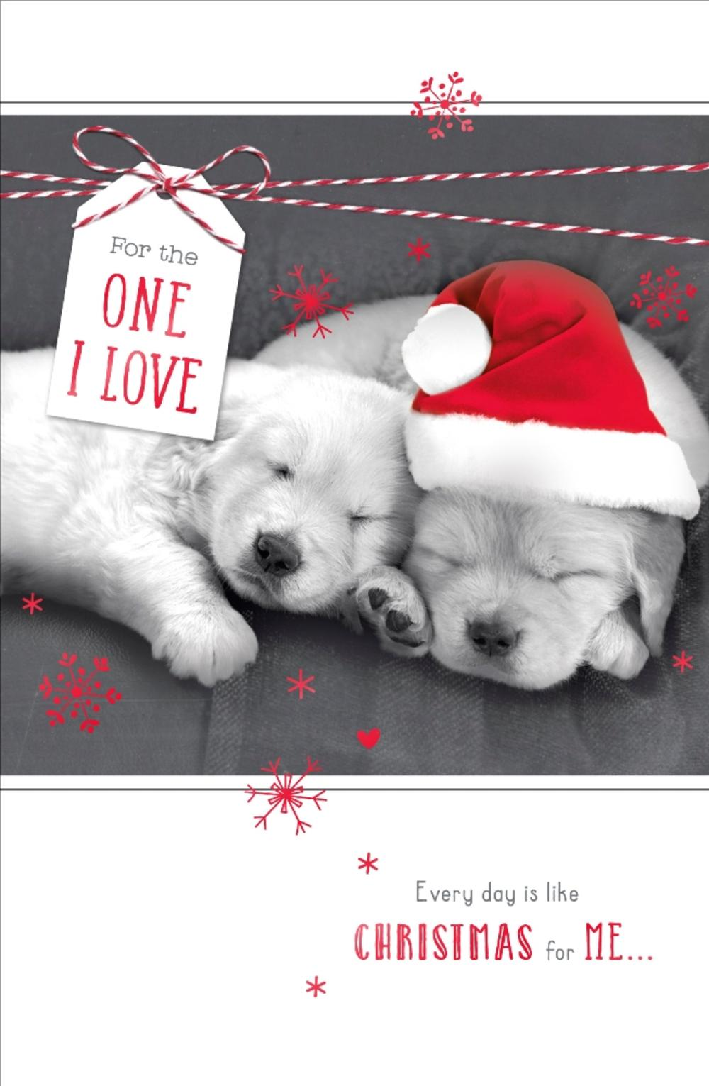 One I Love Talk To The Paws Christmas Greeting Card