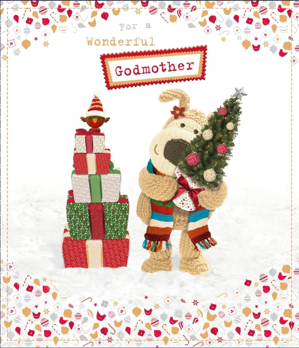 Boofle Wonderful Godmother Christmas Greeting Card