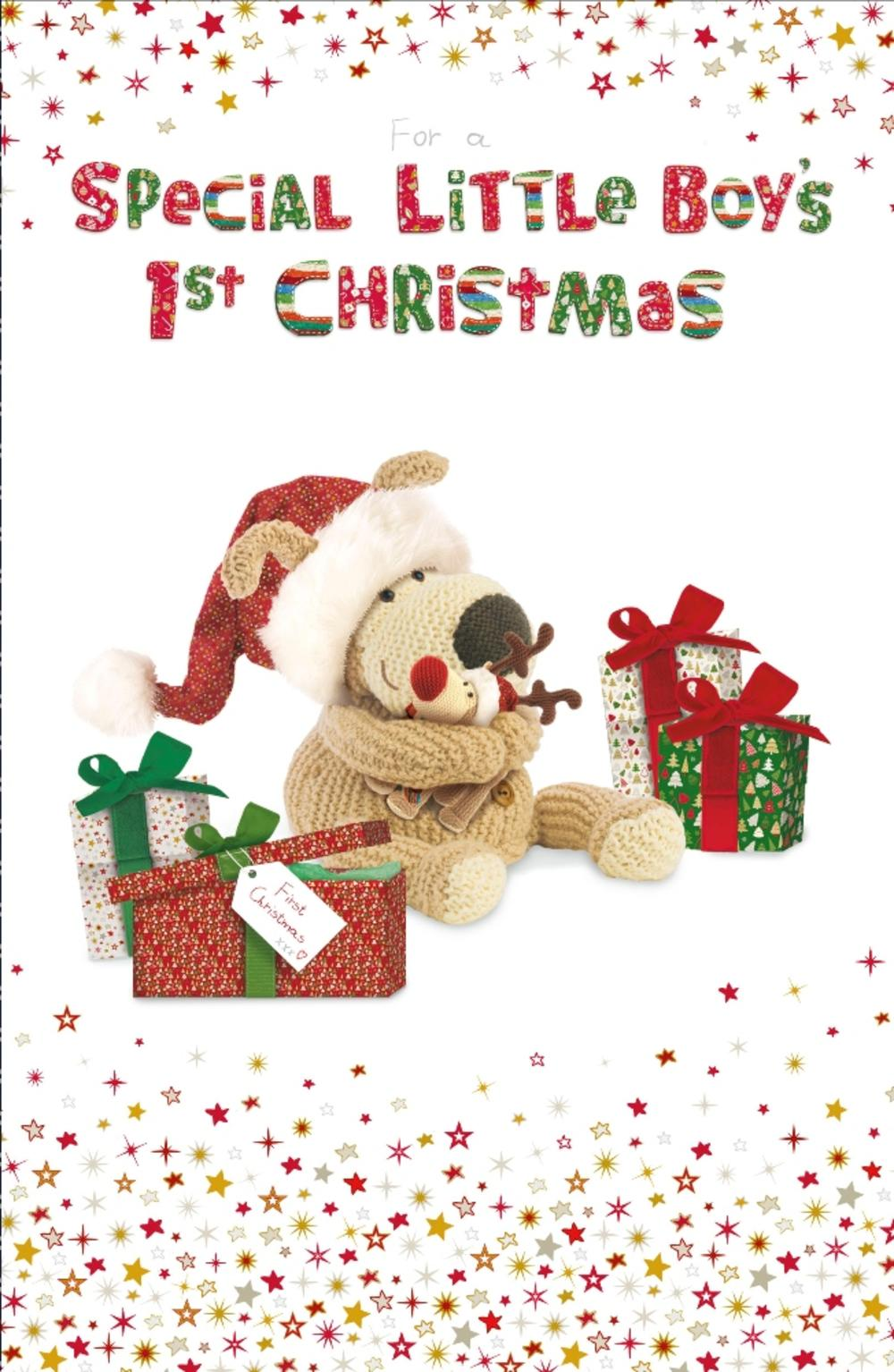 Boofle Boy's 1st Christmas Greeting Card