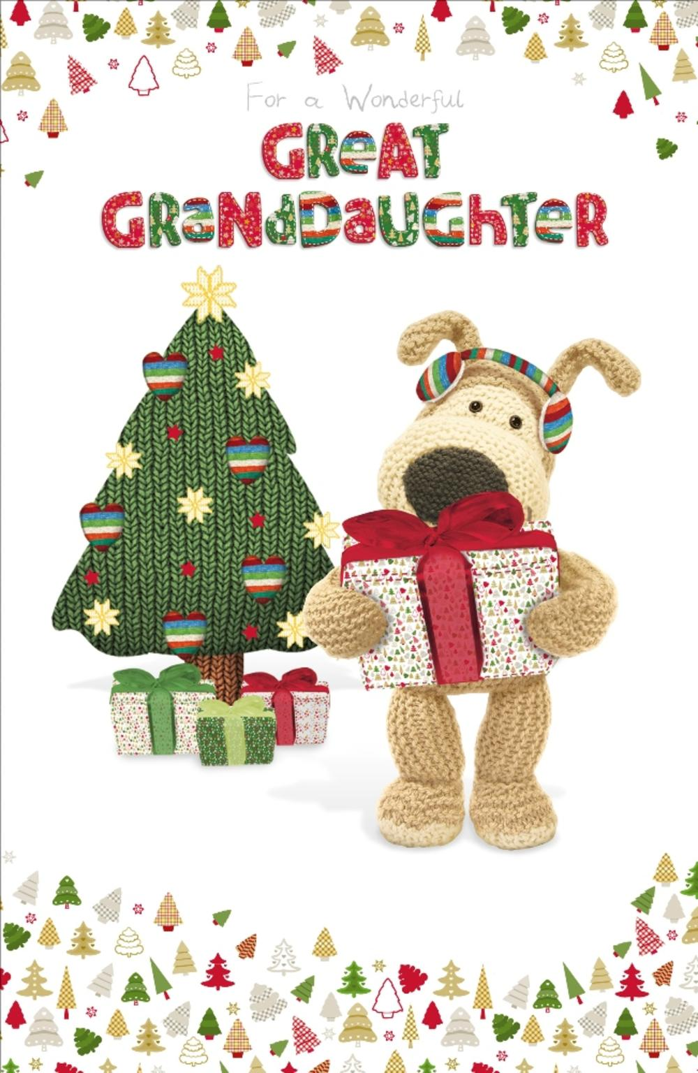 Boofle Great-Granddaughter Christmas Greeting Card